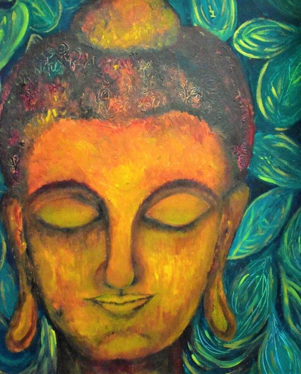 Rustic Textural Buddha