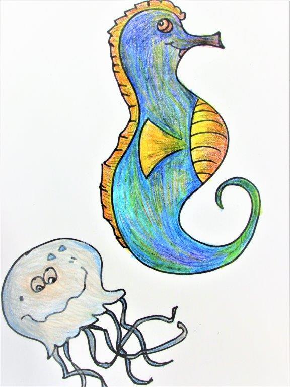 Zoo Animals - Seahorse and JellyFish