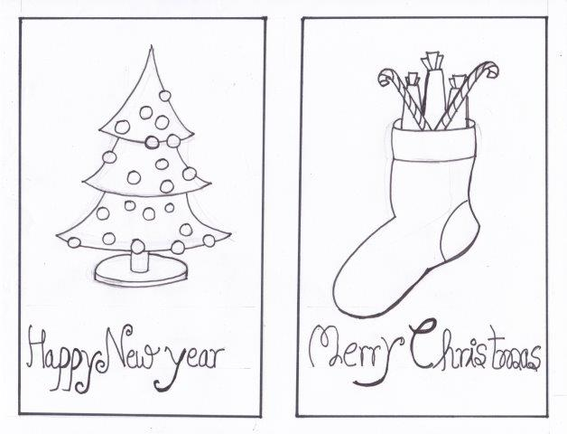 Christmas Greetings - Pencil Drawings