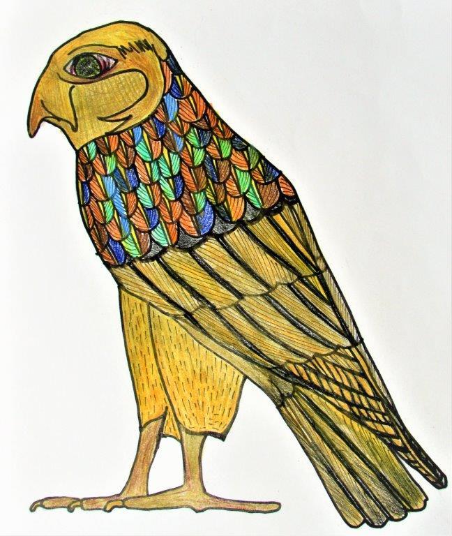 Ancient Egypt Hieroglyph -- Falcon